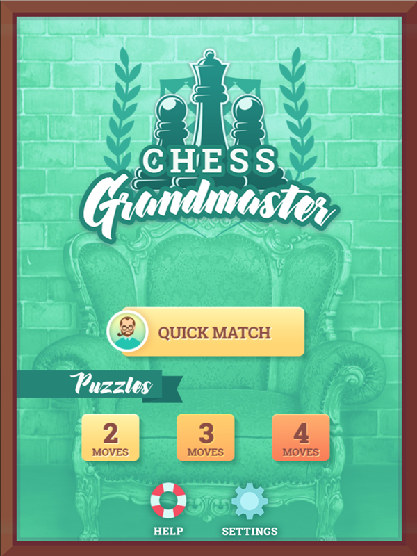 Chess Grandmaster Welcome Screen Screenshot.