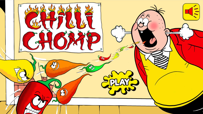 Chilli Chomp Game Welcome Screen Screenshot.