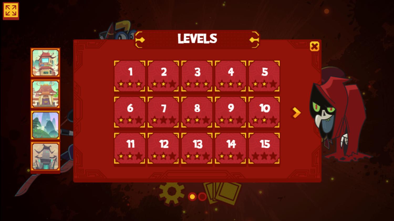 Chuck Chicken the Magic Egg Game Level Select Screen Screenshot.