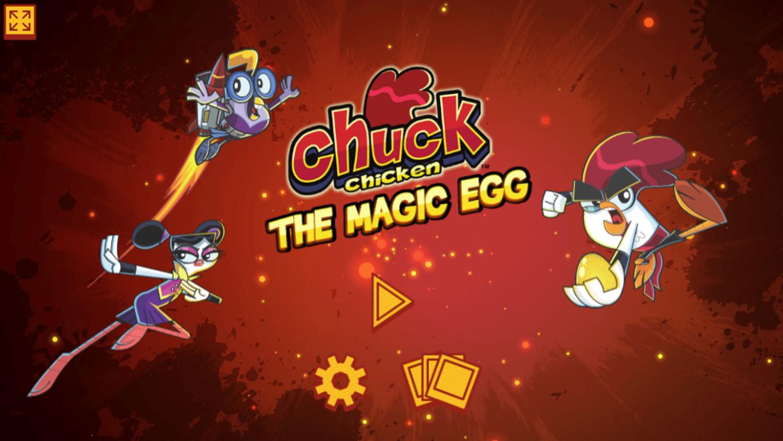 Chuck Chicken the Magic Egg Game Welcome Screen Screenshot.