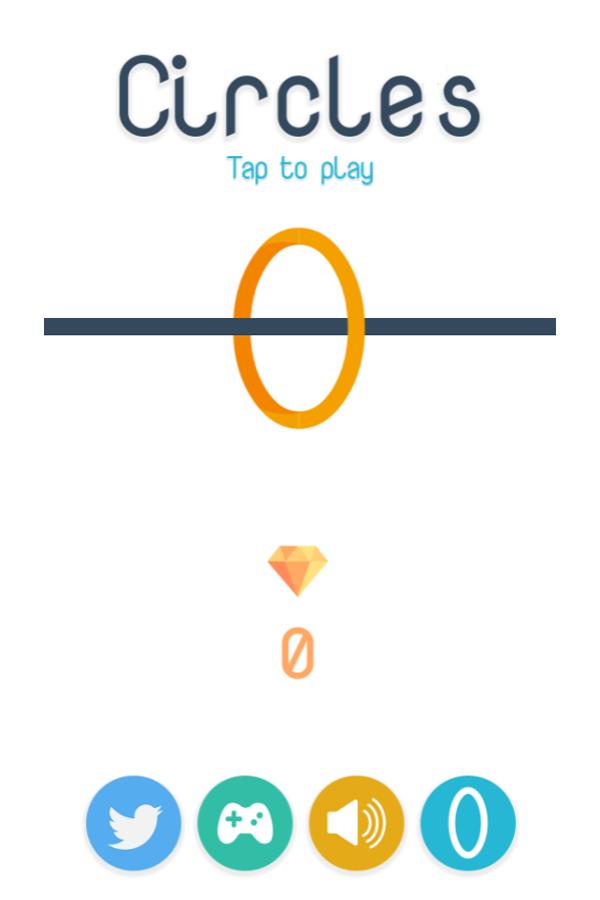 Circles Game Welcome Screenshot.