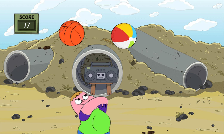 Clarence Arm Shirt Juggle Game Screenshot.
