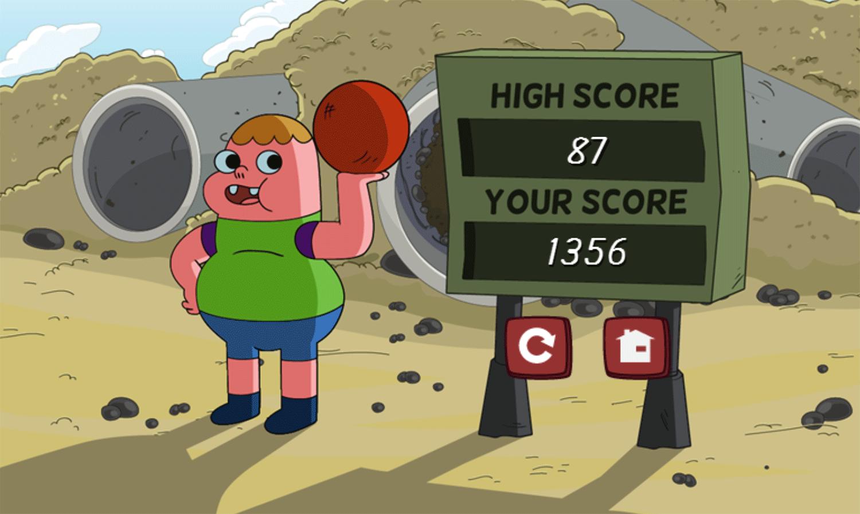 Clarence Arm Shirt Juggle Game Score Screenshot.