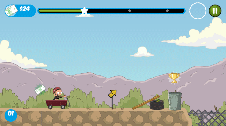 Clarence Reckless Ramps Game Screenshot.