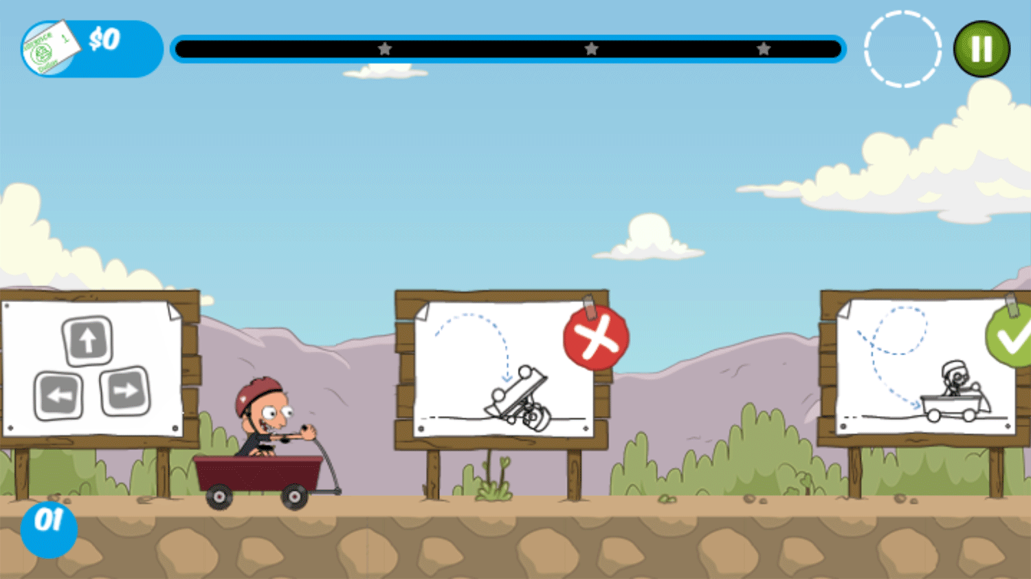 Clarence Reckless Ramps Game How To Play Screenshot.