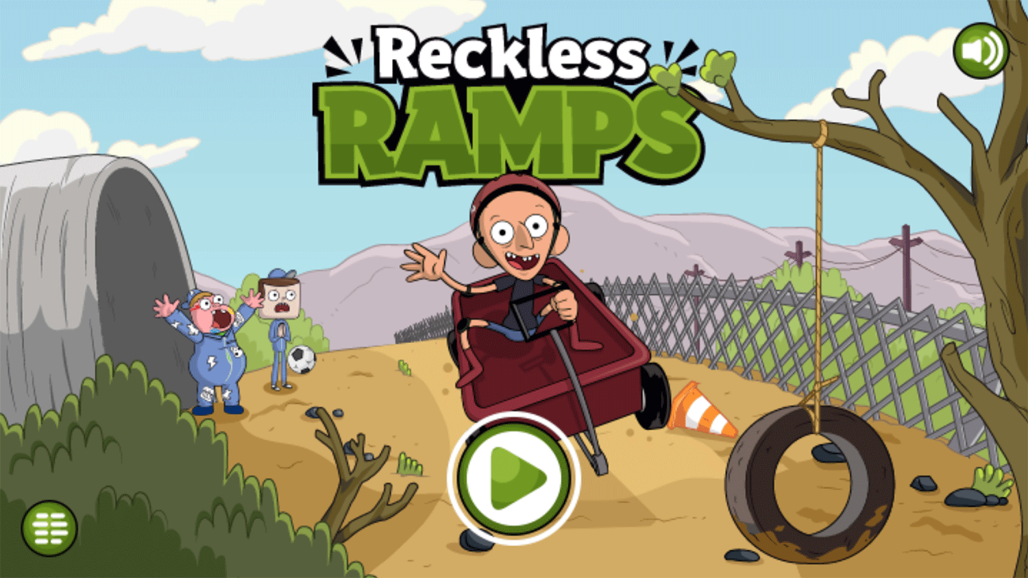 Clarence Reckless Ramps Game Welcome Screen Screenshot.