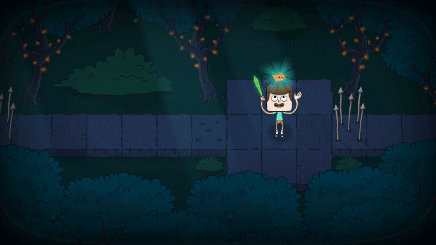 Clarence Scared Silly Game Level Complete Screenshot.
