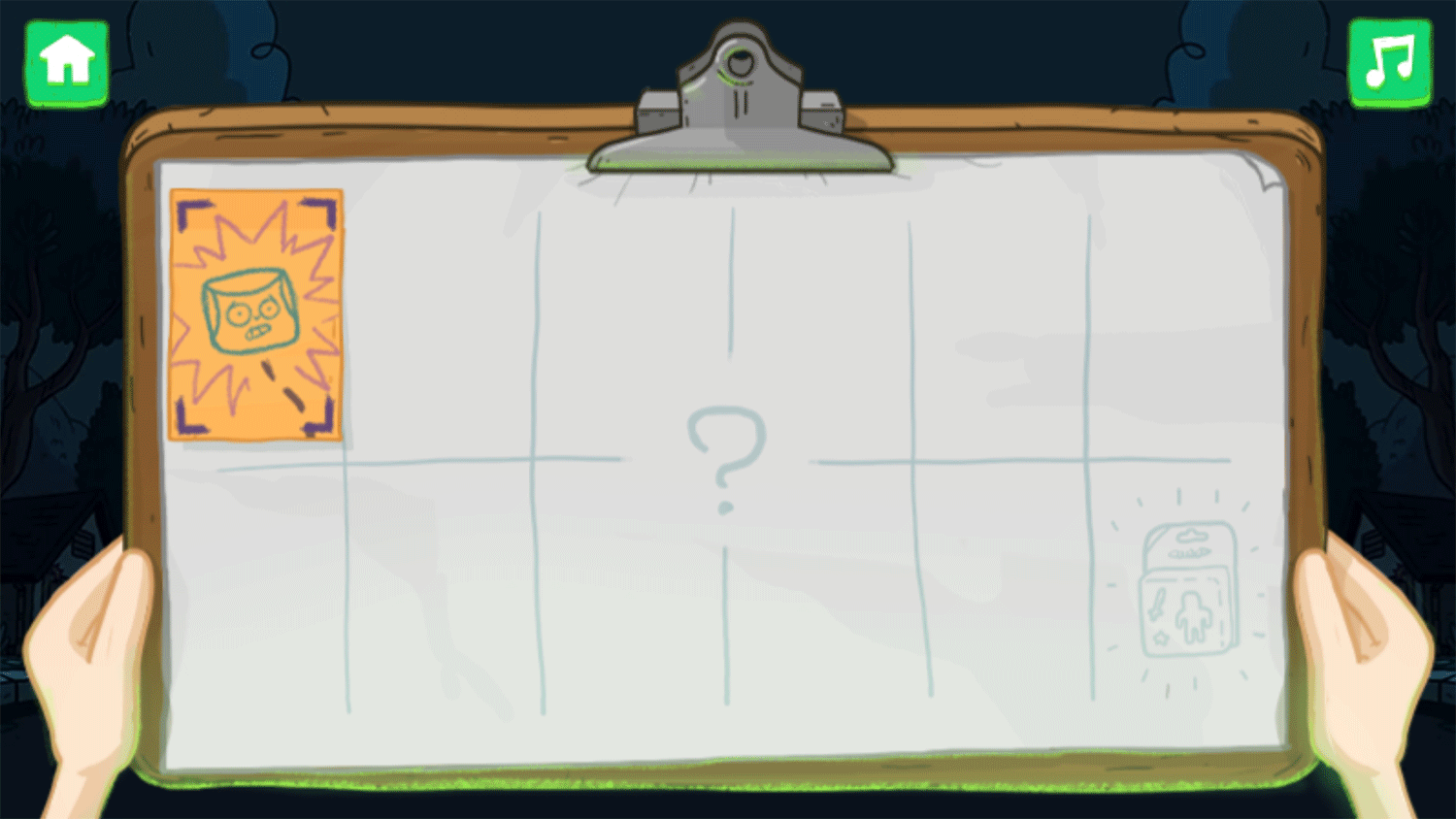 Clarence Scared Silly Game Level Select Screenshot.