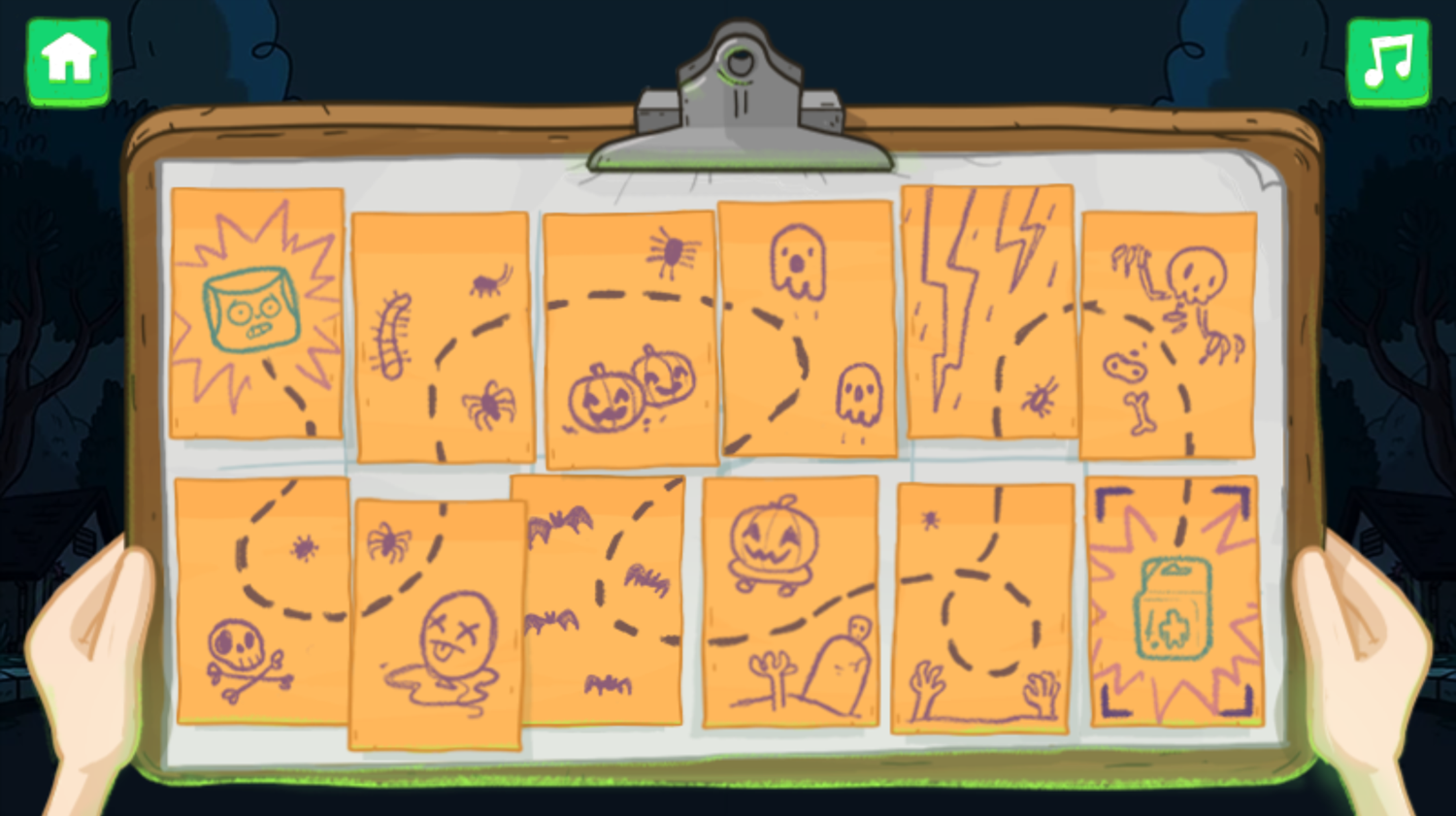Clarence Scared Silly Game Map Complete Screenshot.