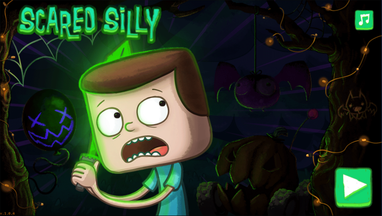 Clarence Scared Silly Game Welcome Screen Screenshot.