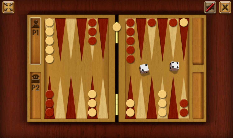 Classic Backgammon Game Bar Screenshot.