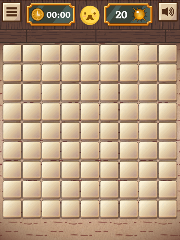 Classic Mine Sweeper Game Easy Mode Screenshot.