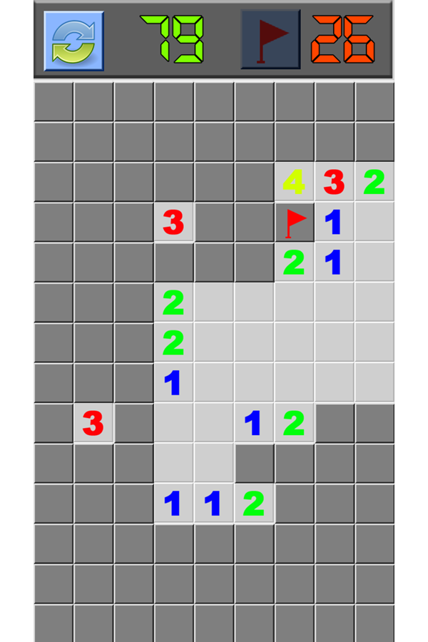 Classic Minesweeper Game Screenshot.