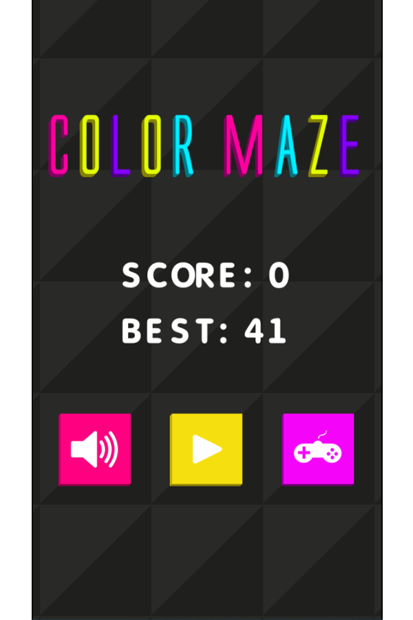 Color Maze Welcome Screen Screenshot.