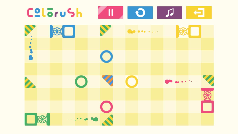 Colorush Game Play Puzzle Screenshot.
