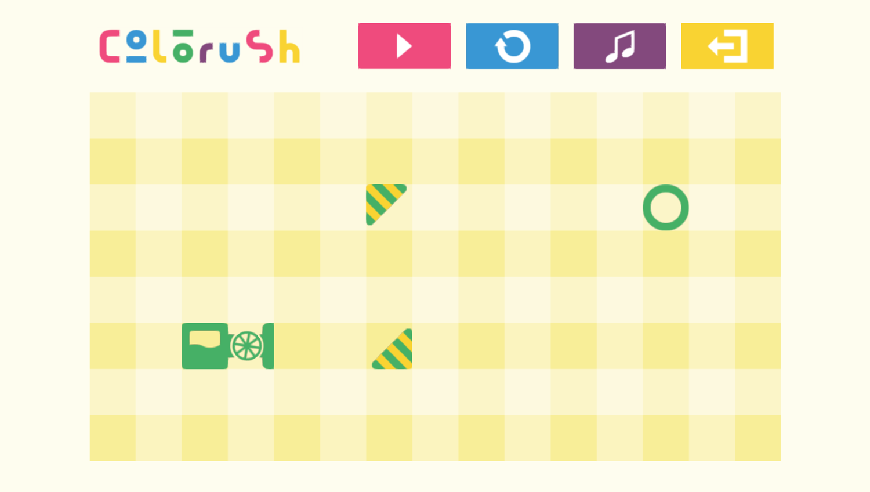 Colorush Game Start Screenshot.