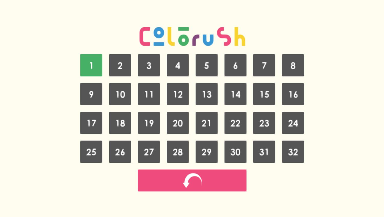 Colorush Game Level Select Screenshot.