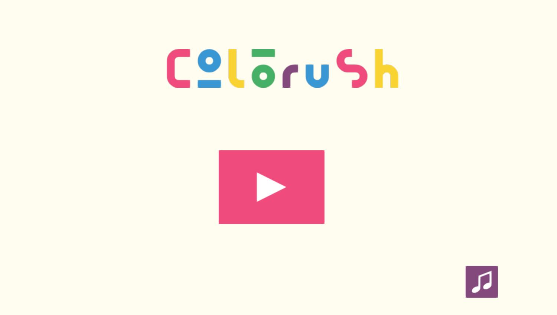 Colorush Game Welcome Screen Screenshot.