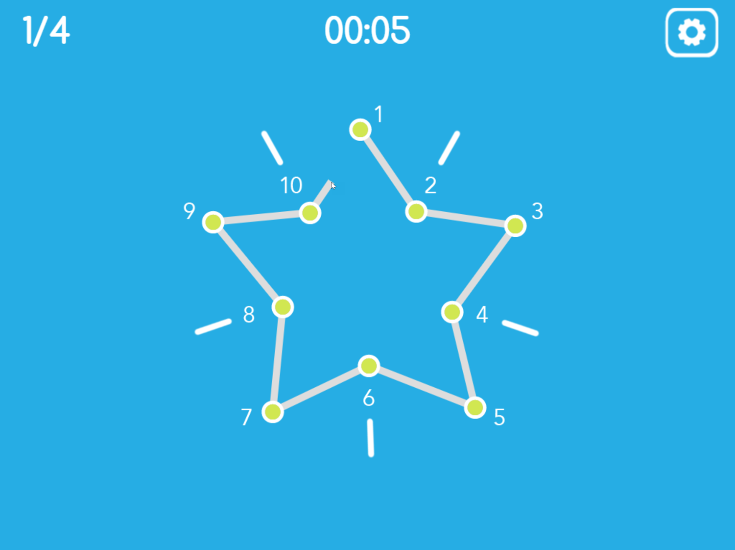 Connect the Dots Game Drawn Screenshot.