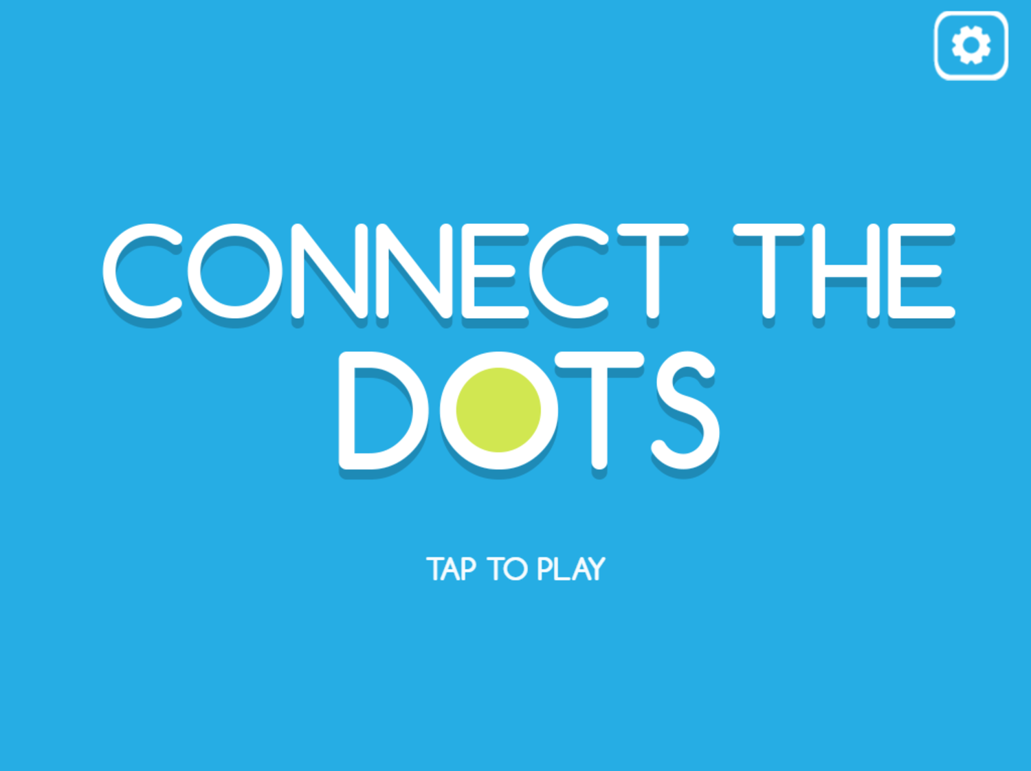Connect the Dots Game Welcome Screen Screenshot.