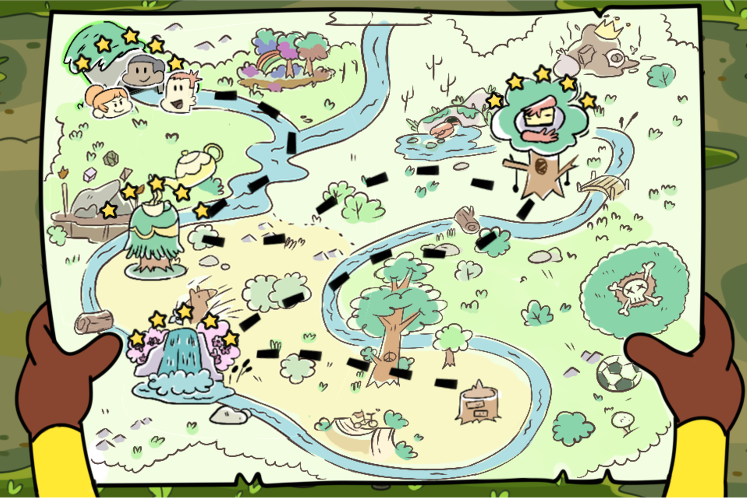Craig of the Creek Defend the Sewers Map Screenshot.