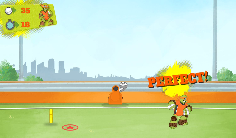 Crash the Bash Classic Catch Game Play Screenshot.