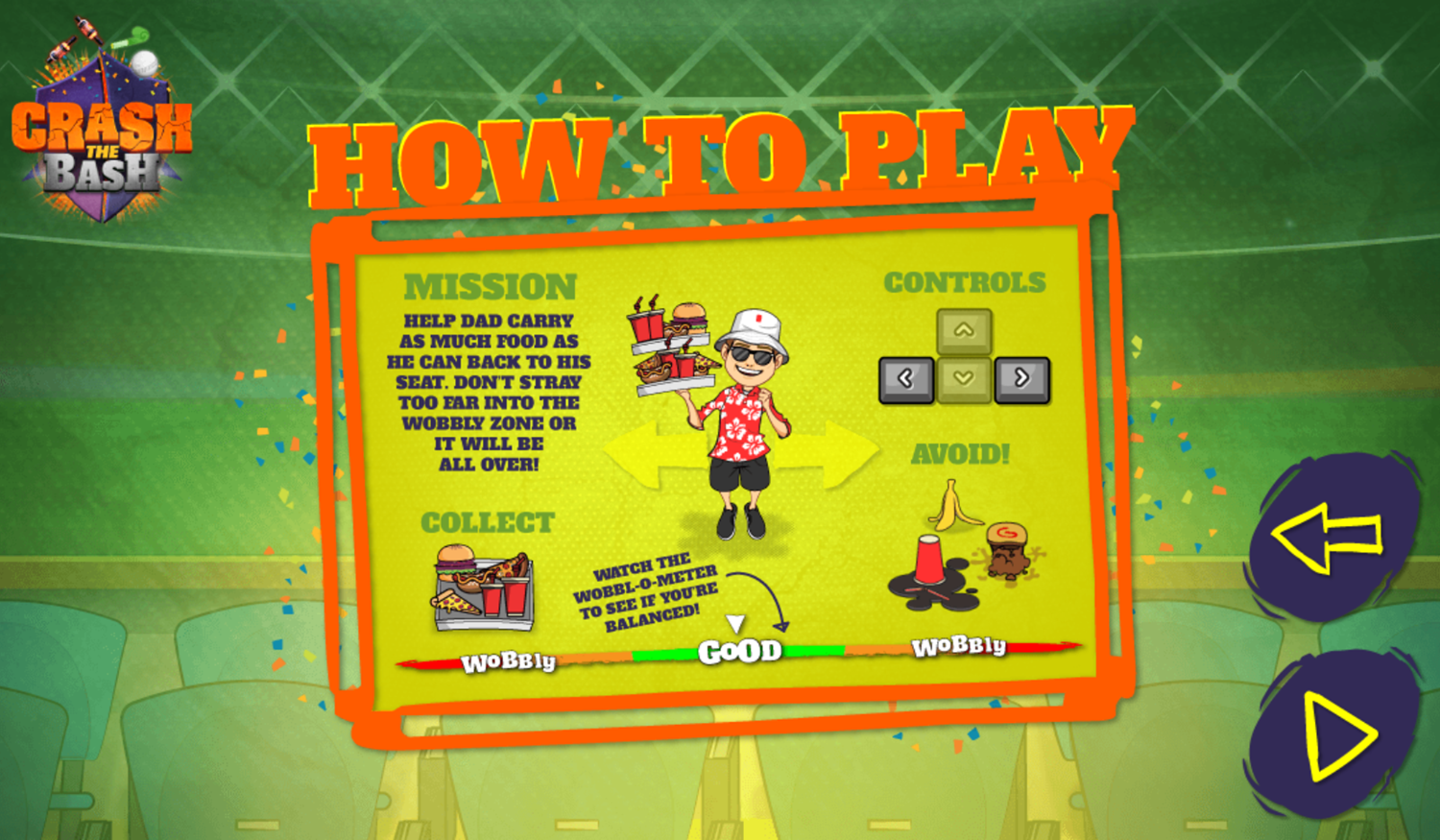 Crash the Bash Wobbly Dad Game How To Play Screenshot.
