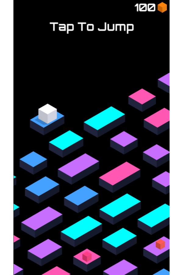 Cube Jump Game Screenshot.