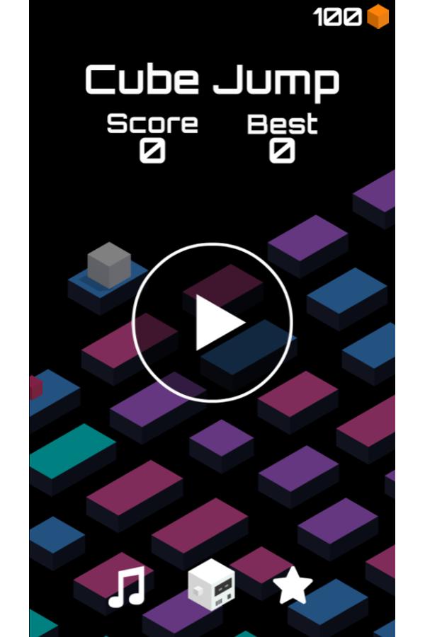 Cube Jump Game Welcome Screenshot.