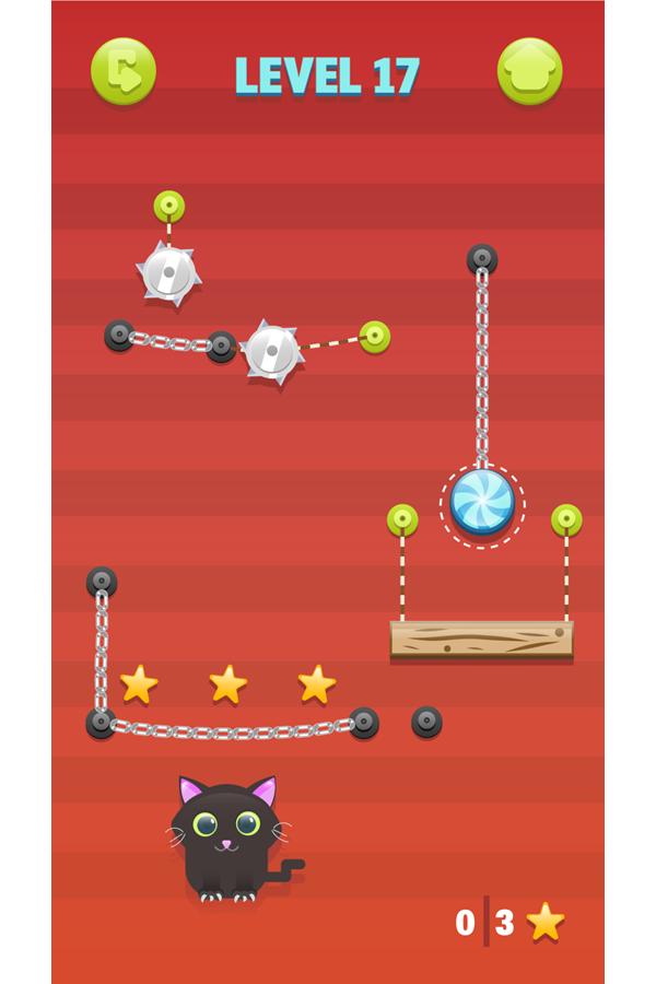 Cut for Cats Game Screenshot.