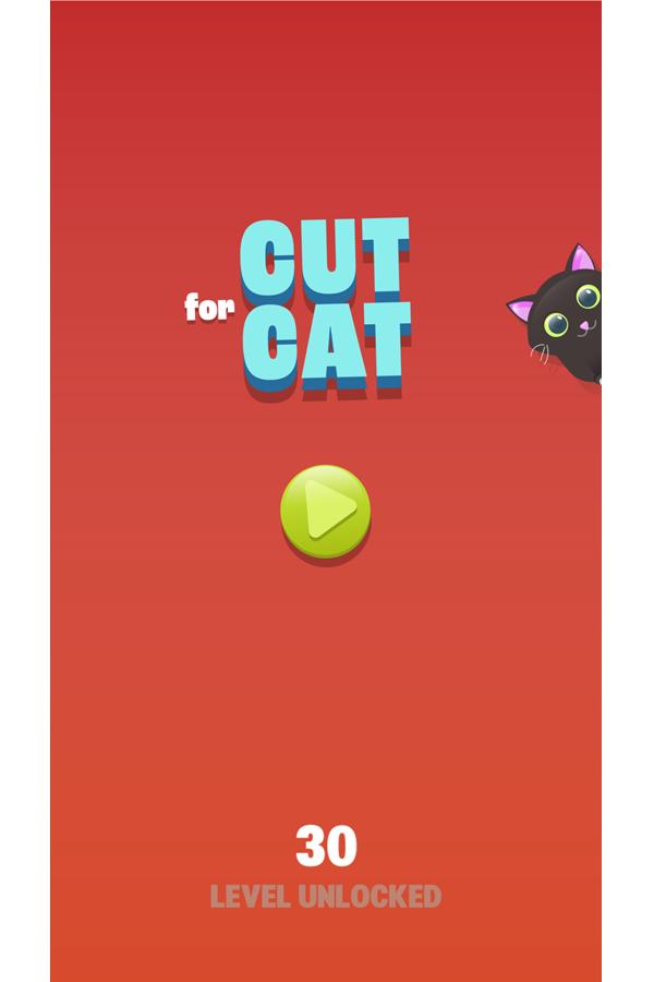 Cut for Cats Game Welcome Screen Screenshot.