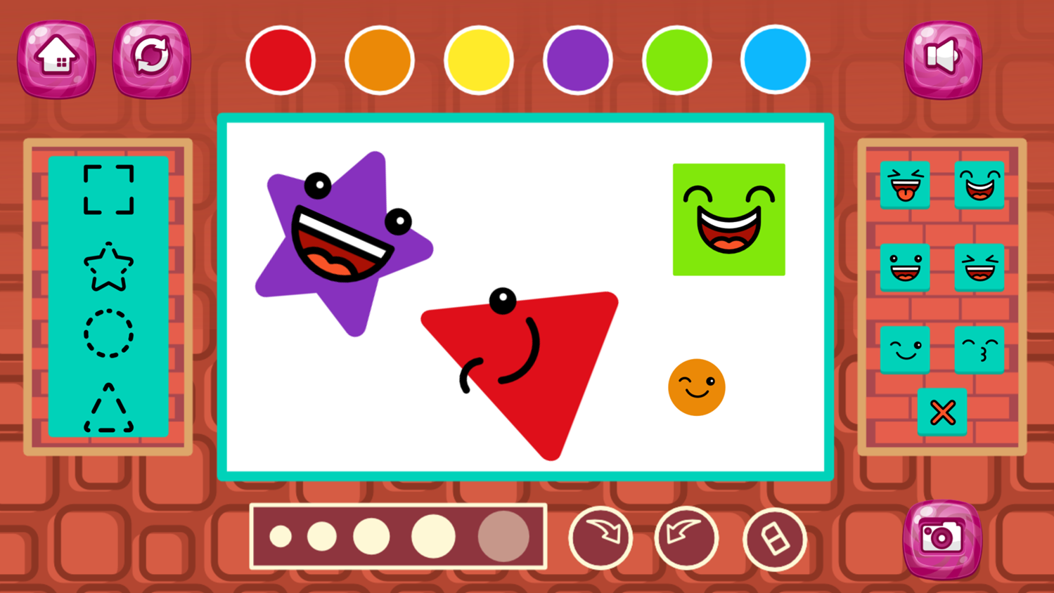 Cute Shapes Game Screenshot.