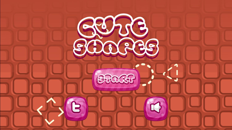 Cute Shapes Game Welcome Screen Screenshot.