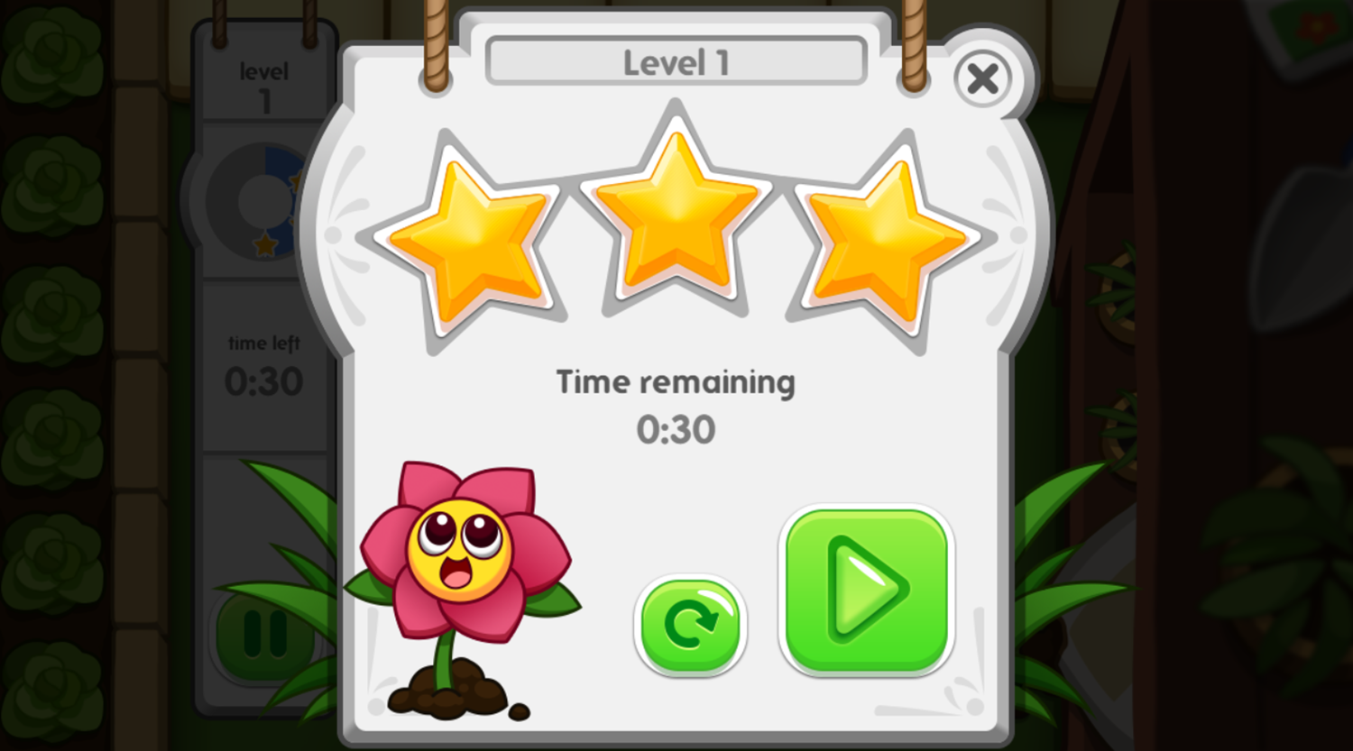 Daisy's Plumber Puzzle Game Level Complete Screenshot.