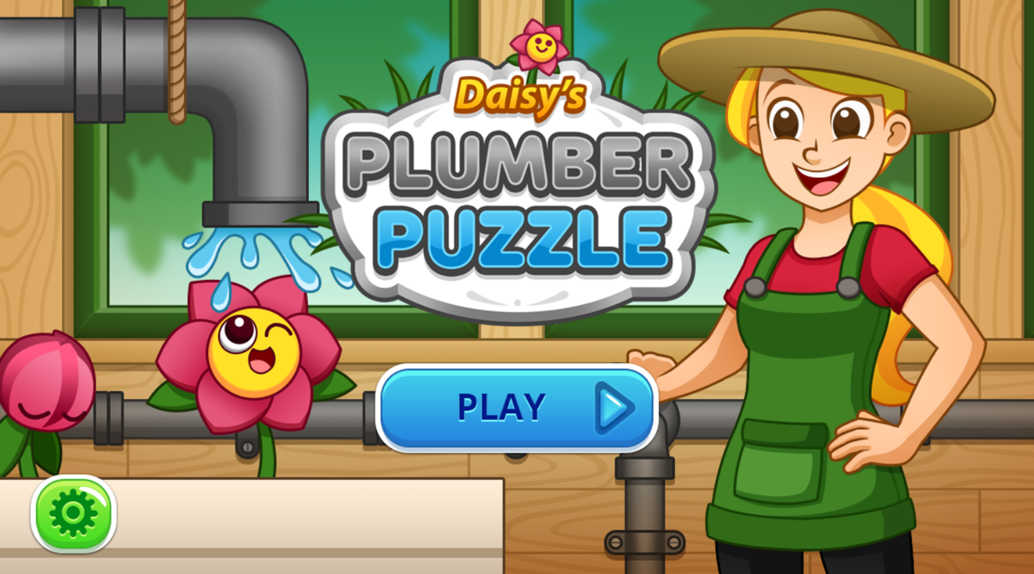 Daisy's Plumber Puzzle Game Welcome Screen Screenshot.