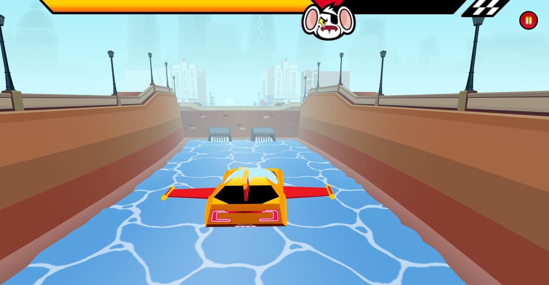 Danger Mouse Full Speed Game Flying Screenshot.