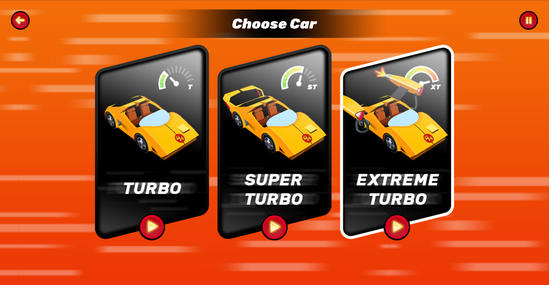 Danger Mouse Full Speed Game Car Turbo Select Screen Screenshot.
