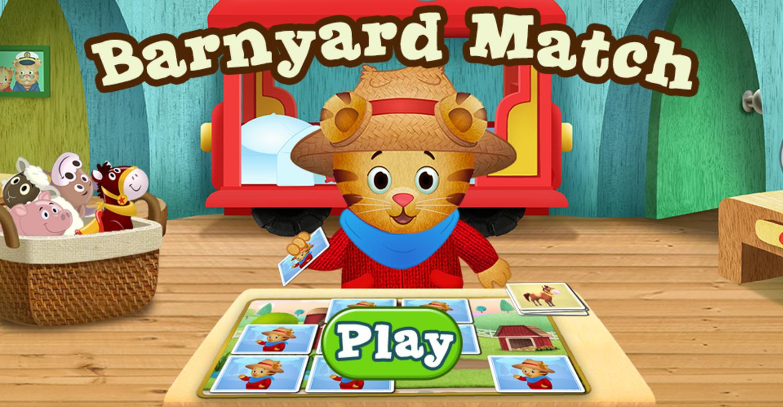Daniel Tiger's Neighborhood Barnyard Match Game Welcome Screen Screenshot.