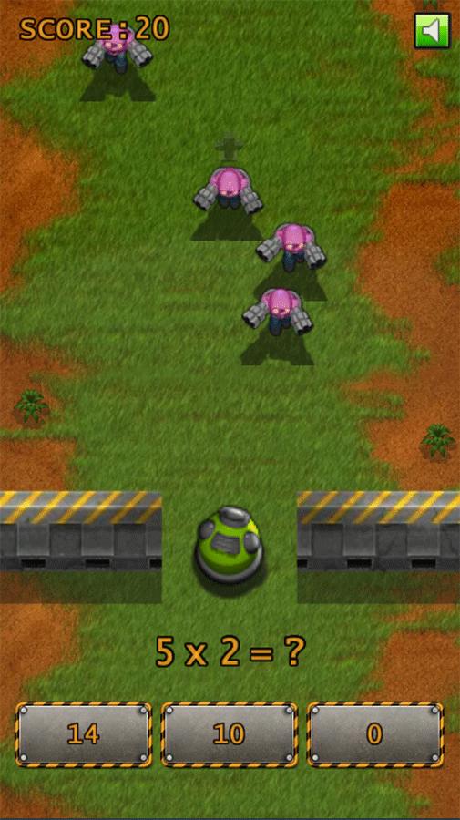 Defense Math Game Screenshots.