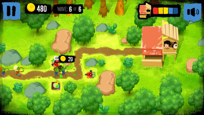 Dennis & Gnasher Defend the Den Game Screenshot.