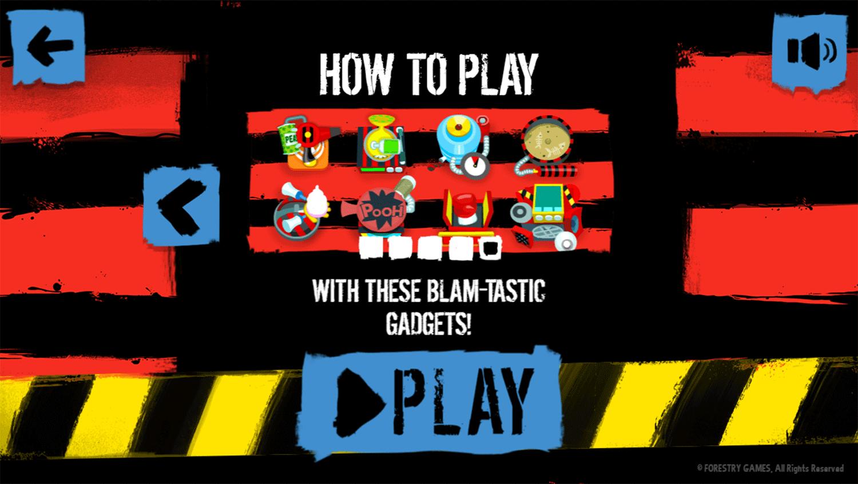 Dennis & Gnasher Defend the Den Game Play Tips Screenshot.