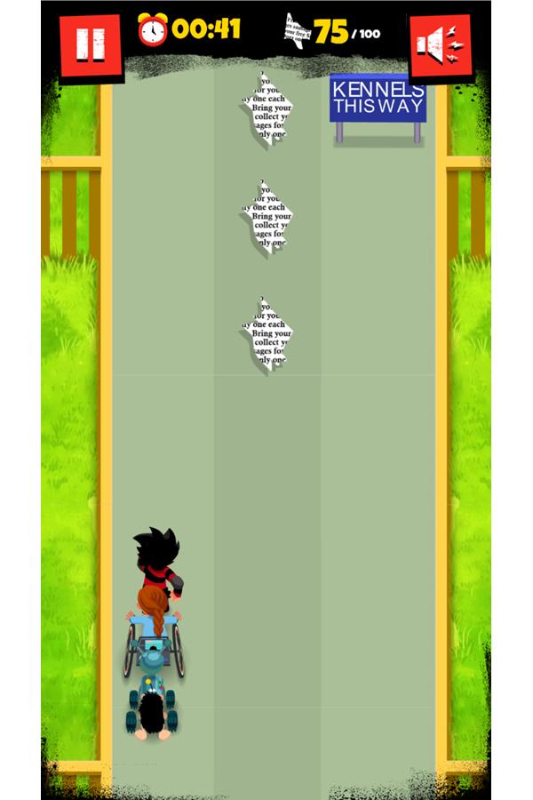 Dennis & Gnasher Sausage & Chips Game Gnipper Level Screenshot.