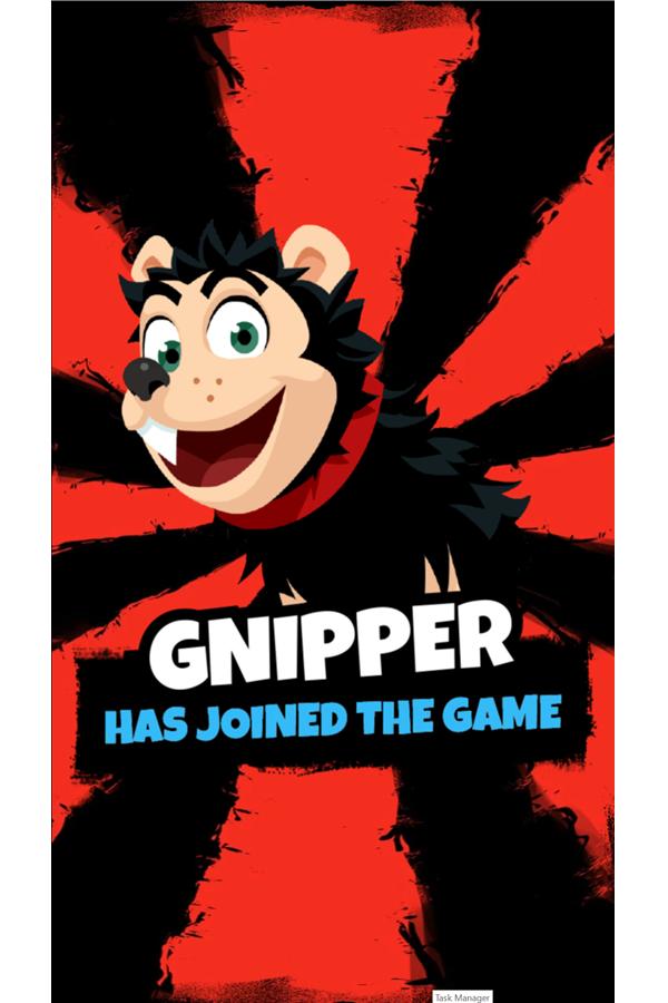 Dennis & Gnasher Sausage & Chips Game Gnipper Screenshot.