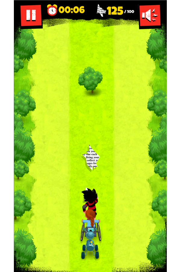 Dennis & Gnasher Sausage & Chips Game Robot Dog Level Screenshot.