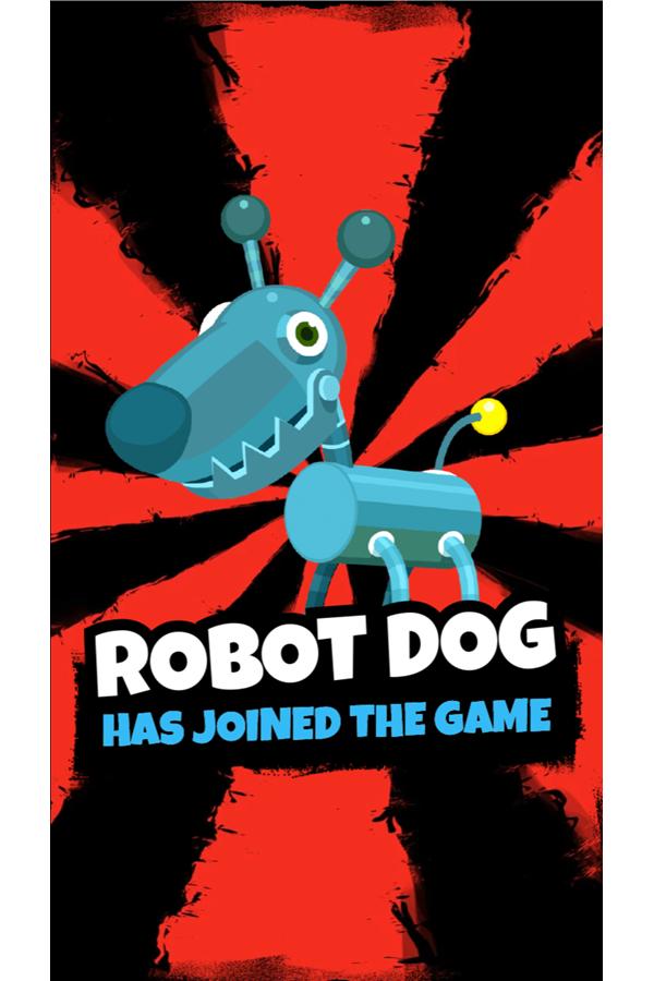 Dennis & Gnasher Sausage & Chips Game Robot Dog Screenshot.