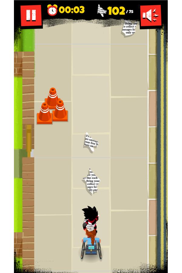 Dennis & Gnasher Sausage & Chips Game Rubi Level Screenshot.
