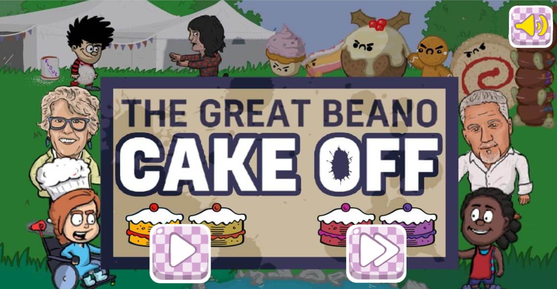 Dennis & Gnasher Great Beano Cake Off Game Welcome Screen Screenshot.