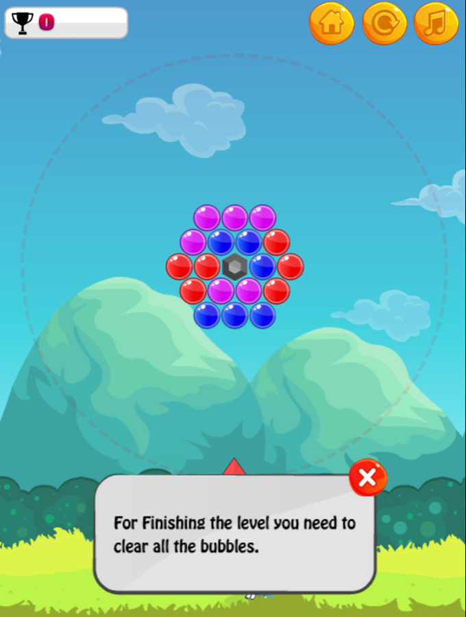 Dino Bubble Game Screenshot.