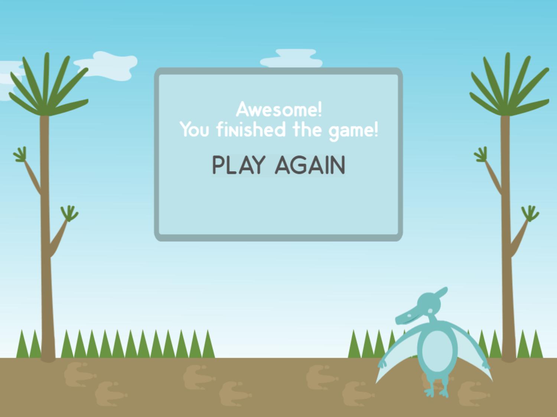 Dino Math Lines Multiplication Game Beat Screen Screenshot.