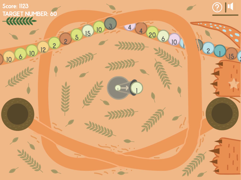 Dino Math Lines Multiplication Game Screenshot.